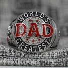 World's Greatest DAD ring NAME CHOOSE Father's day special gift Silver or Brass 10-14S Red