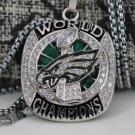 SALE NEWEST 2018 PHILADELPHIA EAGLES SUPER BOWL LII  world Championship necklace+chain