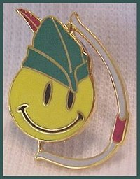 Rollback Robin Hood with Bow Smiley