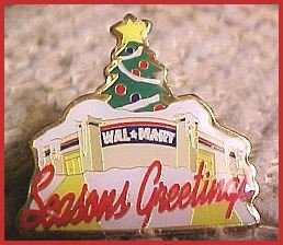 Walmart Season's Greetings Christmas Tree Store Lapel Pin