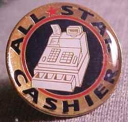 All Star Cashier Cash Register Walmart Lapel Pin