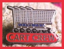 Cart Crew Walmart Lapel Pin Shopping Carts