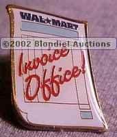 Invoice Office Walmart Lapel Pin