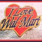 I Love Walmart Heart Lapel Pin