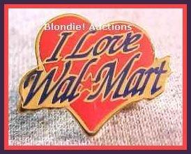 I Love Walmart Heart Lapel Pin