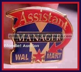 Assistant Manager Walmart Lapel Pin