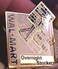 Overnight Stockers Walmart Lapel Pin