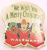 We Wish You a Merry Christmas Carolers Walmart Pin