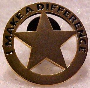 I Make A Difference Star Walmart Lapel Pin