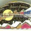 Season's Greetings Semi Truck Walmart Christmas Pin