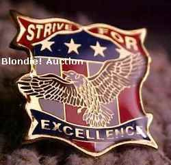 Strive For Excellence Walmart Lapel Pin
