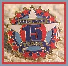 15 Year Walmart Associate Star Lapel Pin