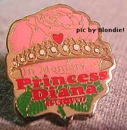 Princess Diana Memorial Lapel Pin