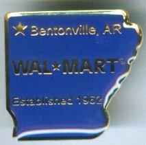 Arkansas Bentonville State Walmart Lapel Pin