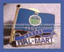 Kansas State Flag Walmart Lapel Pin