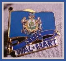 Maine State Flag Walmart Lapel Pin