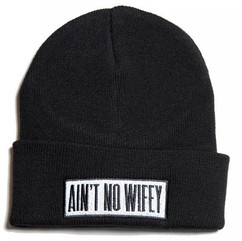 Parody skateboard sports No Wifey Hip Hop unisex cuffed beanie