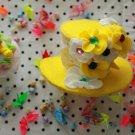 yellow flower mini hat