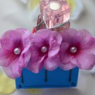 flower with pearl bobby pins-pink