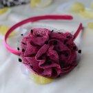 flower headband-pink