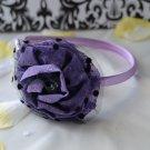 flower headband-purple