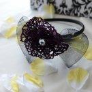 girls flower headband-purple