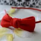 bowie headband-red