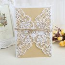 10Pcs Wedding Invitation Card Kit with Envelopes Seal Personalized Printing Card