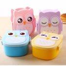 Owl Bento Lunch Box Plastic Cute Cartoon Lunch Box Food Contain Bento Box Spoon