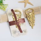 Golden Peacock Feather Bottle Opener Wedding Party Favor Guests Gift