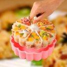 Cake Pan Round Shape Cake Baking Mould DIY Mold Dessert Pink Bakeware Tray Tool