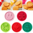 Christmas Cookie Stamps Tasty Teaser Baking Mold Round Biscuit Cutter Bakeware
