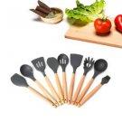 Heat Resitant Non-stick Silicone Spoon Shovel Kitchen Utensils Bake Cooking Tool