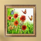 DIY 5D Diamond Flower Butterfly Embroidery Painting Cross Stitch Home Decor