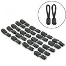 Hot 20 Pcs Black Paracord Plastic Zippers Pull Replacement For Sport Outdoor