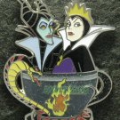 Disney Pin 2011 HKDL Mystery Tin Pin Tea Cup Collection - Evil Queen & Maleficent