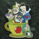 Disney Pin 2011 HKDL Mystery Tin Pin Tea Cup Collection - Snow White & the Dwarfs