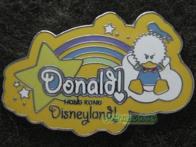 Disney Pin HKDL 2005 Cute Characters - Donald - Rainbow