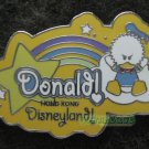 Disney Pin HKDL 2005 Cute Characters - Donald - Rainbow