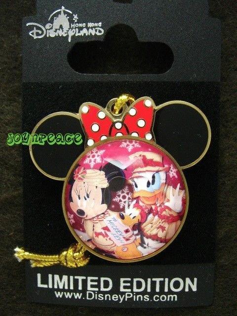 Disney Pin HKDL Christmas 2012 - Minnie Daisy & Pluto - LE 300
