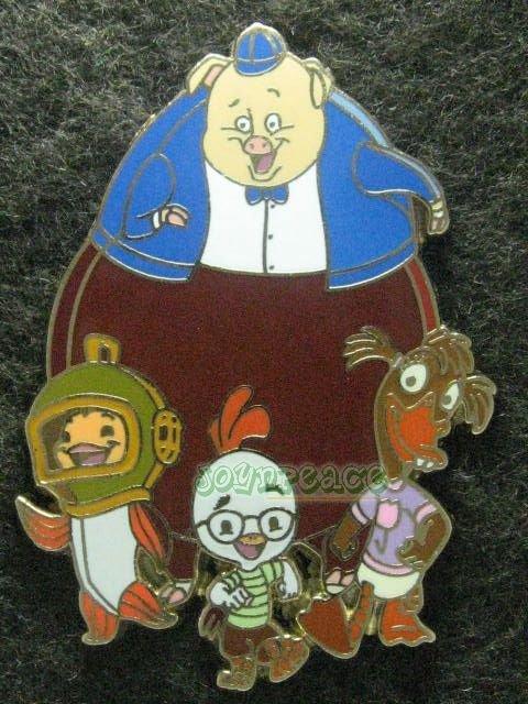 Disney Pin 2006 HKDL Chicken Little & Friend Abby Mallard Runt Fish Artist Proof