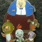 Disney Pin 2006 HKDL Chicken Little & Friend Abby Mallard Runt Fish Artist Proof