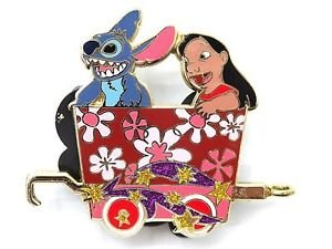 53035 Disney 2008 HKDL Mystery Tin Character Train Collection - STITCH & LILO