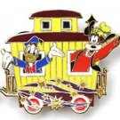 53036 Disney 2008 HKDL Mystery Tin Character Train Collect - Caboose DONALD+GOOF