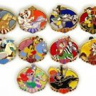 61079S Disney Pin 2008 HKDL Mystery Tin Pin Carousel Collection - 10 Pins Set