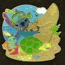 89080 Disney 2011 HKDL Mystery Pin Golden Beach Coll - Stitch Scrump Turtle