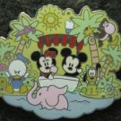41332 Disney Pin 05 HKDL Cute Character Mickey Minnie Donald Pluto Jungle Cruise