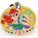 61086 Disney Pin 2008 HKDL Mystery Tin Pin Carousel Collection - Angel as Ariel