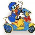 84004 Disney Pin 2011 HKDL Mystery Tin Pin Motorbike Collection - Donald