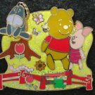57964 Disney Pin 2007 HKDL - Cute Characters - Pooh Piglet Eeyore in the Garden